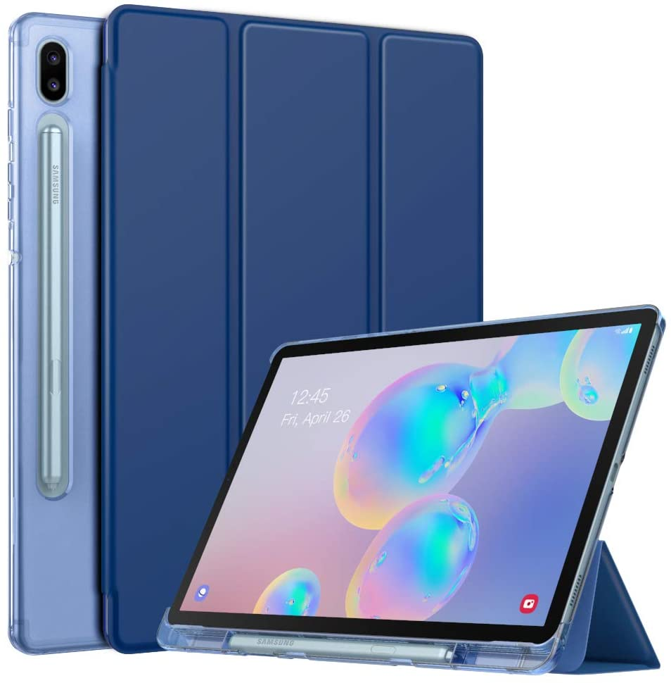 MoKo Case Fit Samsung Galaxy Tab S6 10.5 2019, Ultra Thin Slim Shell Trifold Stand Cover with Frosted Back with Auto Wake & Sleep for Galaxy Tab S6 10.5
