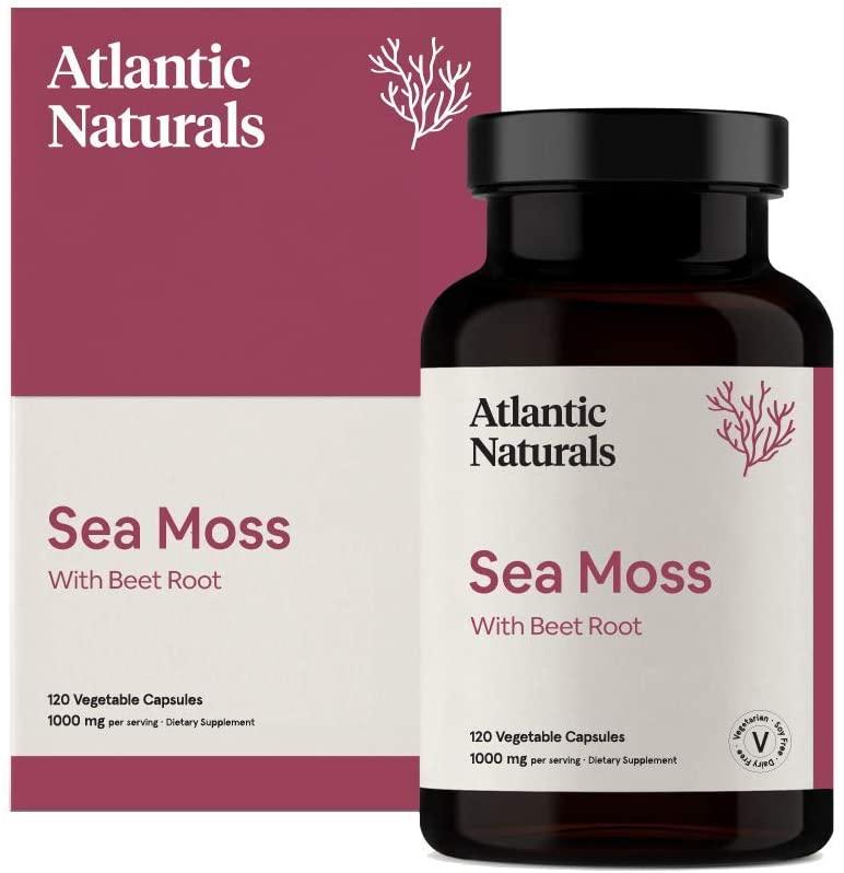 Organic Sea Moss with Beet Root Capsules | Vegan 1000mg