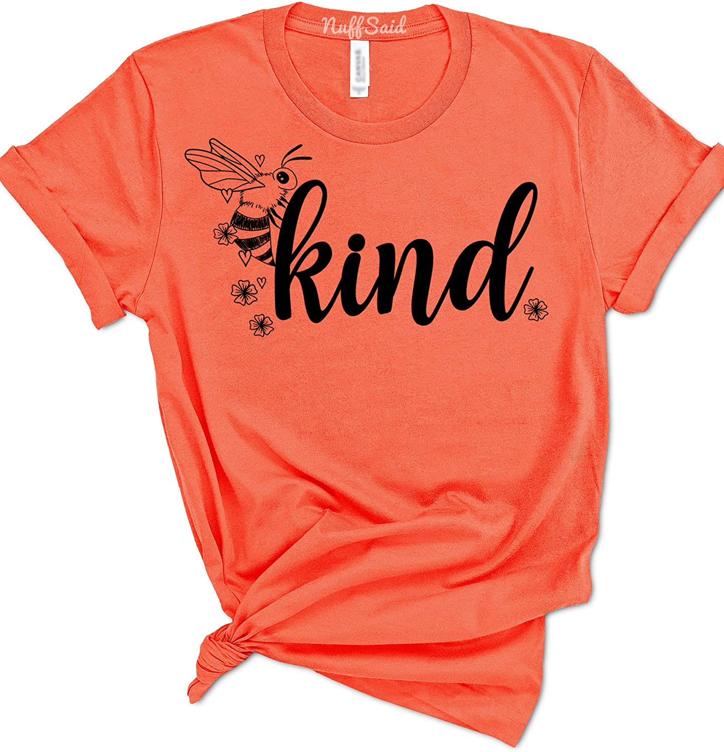NuffSaid Bee Kind Cute Woman's Summer T-Shirt - Save The Bees Graphic Tee