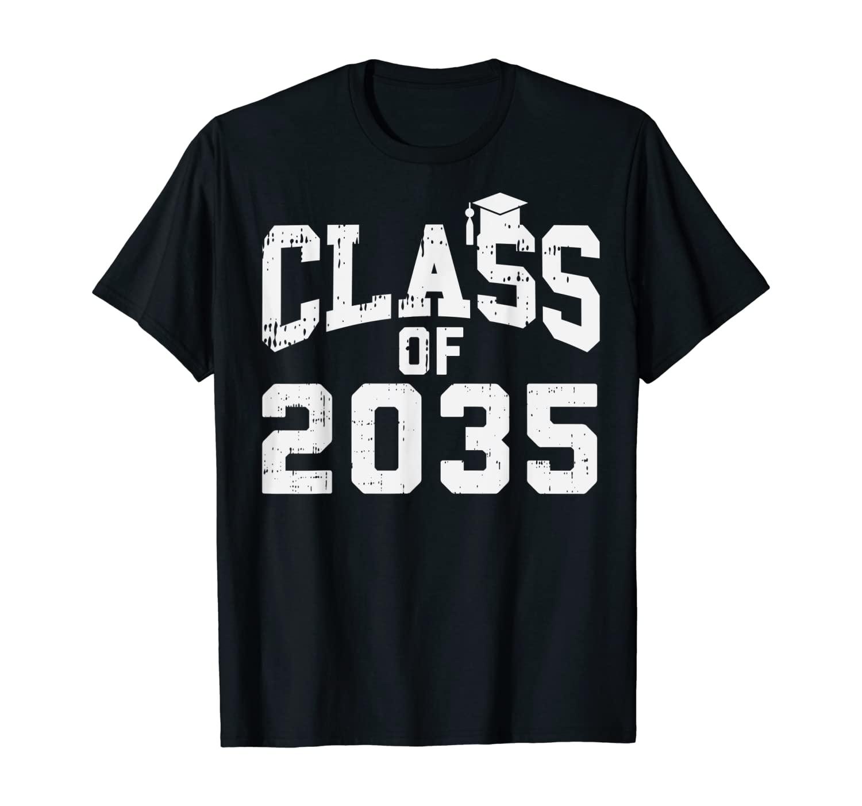 Class Of 2035 Tassle First Day Of Kindergarten Grow With Me T-Shirt