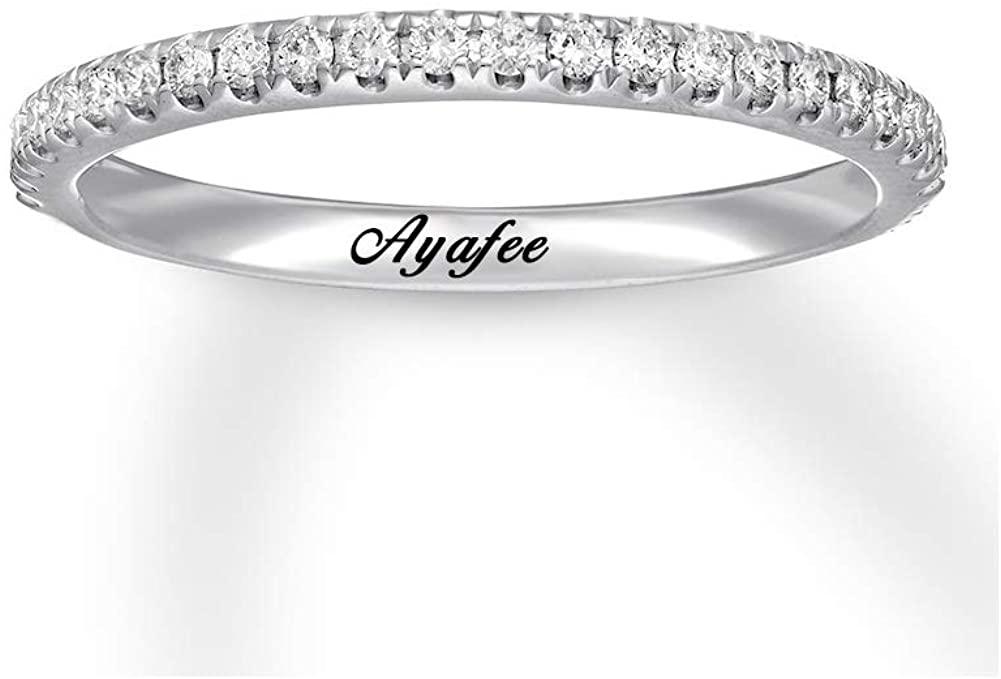 moissanite engagement ring 1/5 Carat (ctw) 14k gold rings – name moissanite ring yellow/white/rose gold personalized rings for women