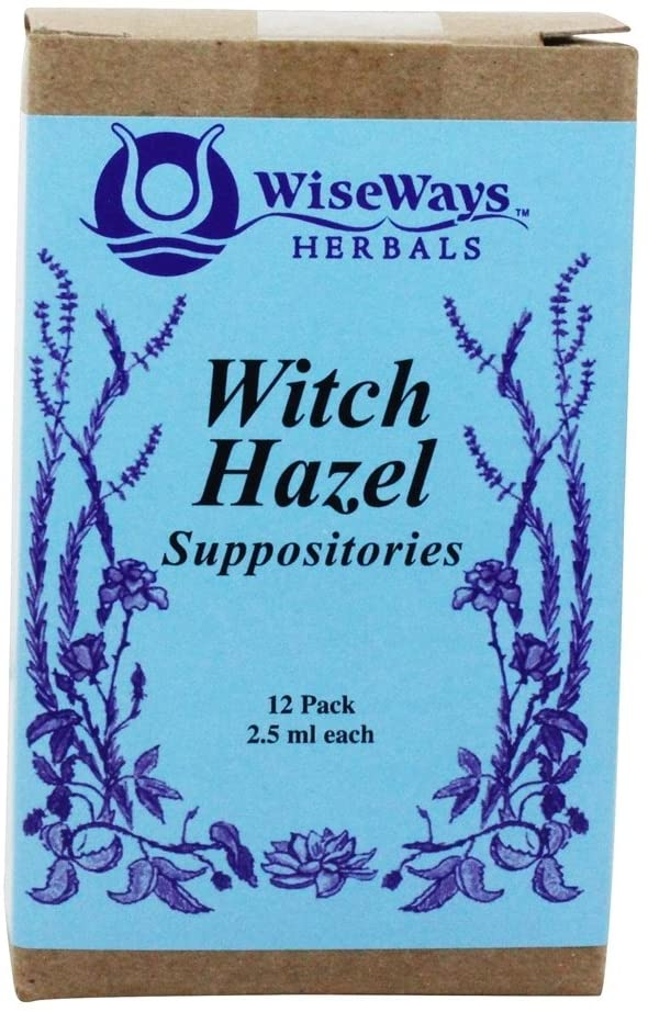 WiseWays Herbals Witch Hazel Suppositories 12 Count