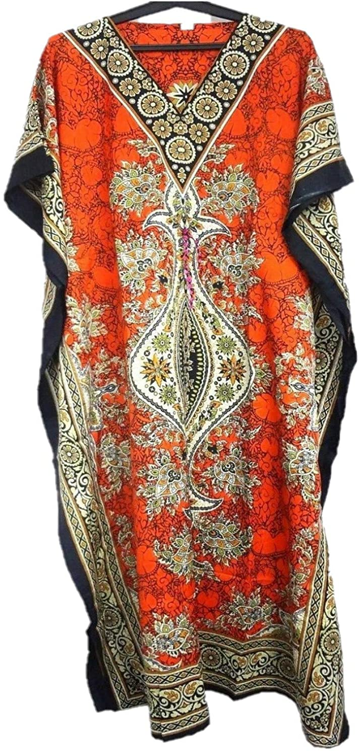 Ladies Long Kaftans Kimono Maxi Style Dresses Women in Regular to Plus Size Cover up