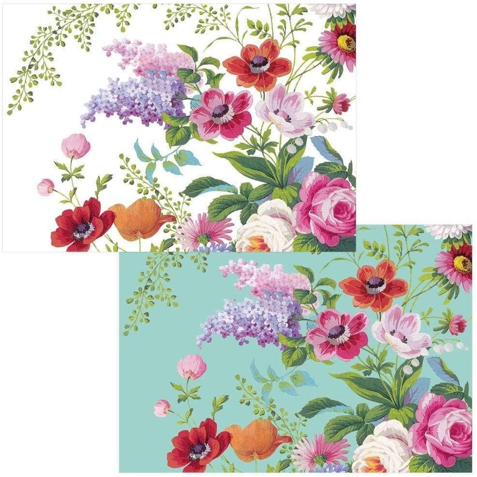 Caspari Edwardian Garden Boxed Note Cards - 8 Note Cards & Envelopes