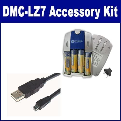 Panasonic Lumix DMC-LZ7 Digital Camera Accessory Kit Includes: USB8PIN USB Cable, SB257 Charger