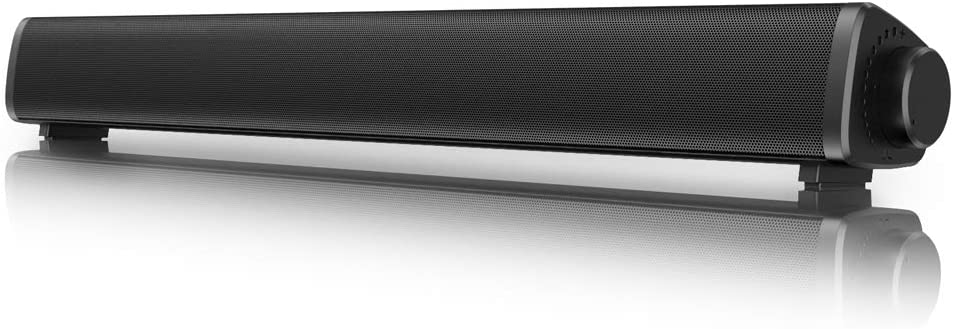VersionTECH. Bluetooth Computer Speakers, Wired/Wireless PC Gaming Sound Bar, Mini Soundbar Speaker for PC/Cellphone/Tablets/Desktop, RCA/Aux Connection