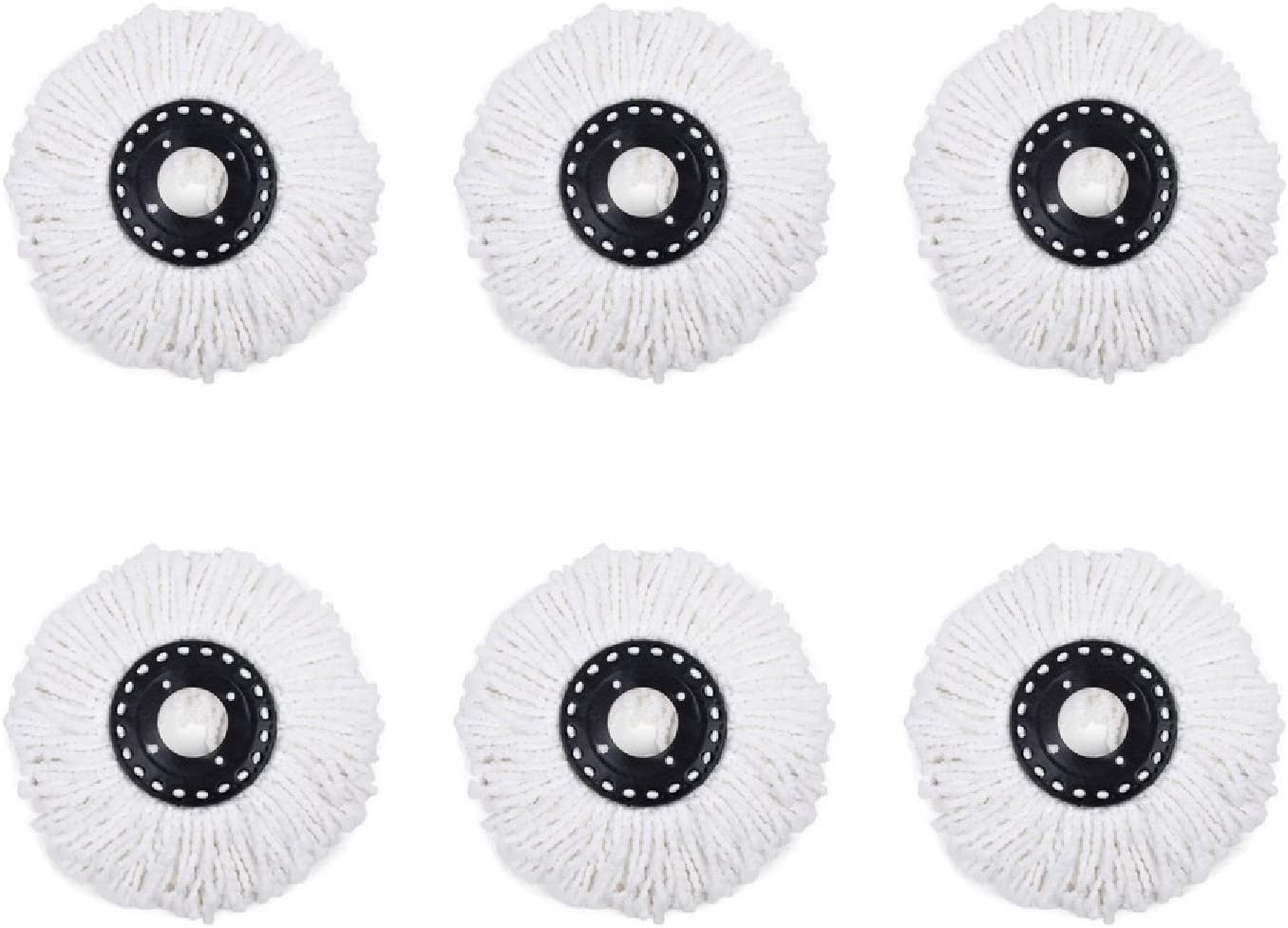 7try New 6pcs Microfiber Mop Head Refill For HSN Hurricane Magic Mop 360¡ã Spin Replacement Mophead