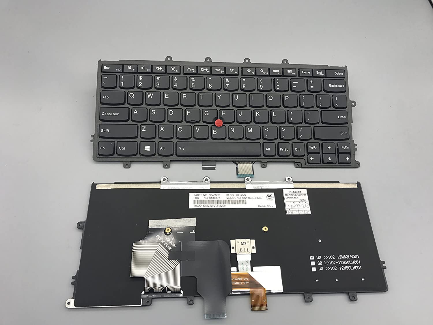 Replacement Keyboard for Lenovo IBM Thinkpad X240 X240S X240I Laptop with Backlight 04X0177, 0C43982, 04X0215 MP-12M53USJ387W 6412N9
