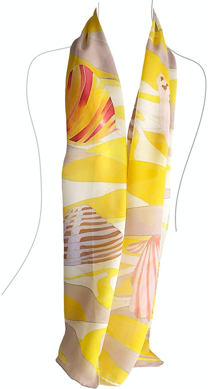 Hand Paint Silk Scarf,60