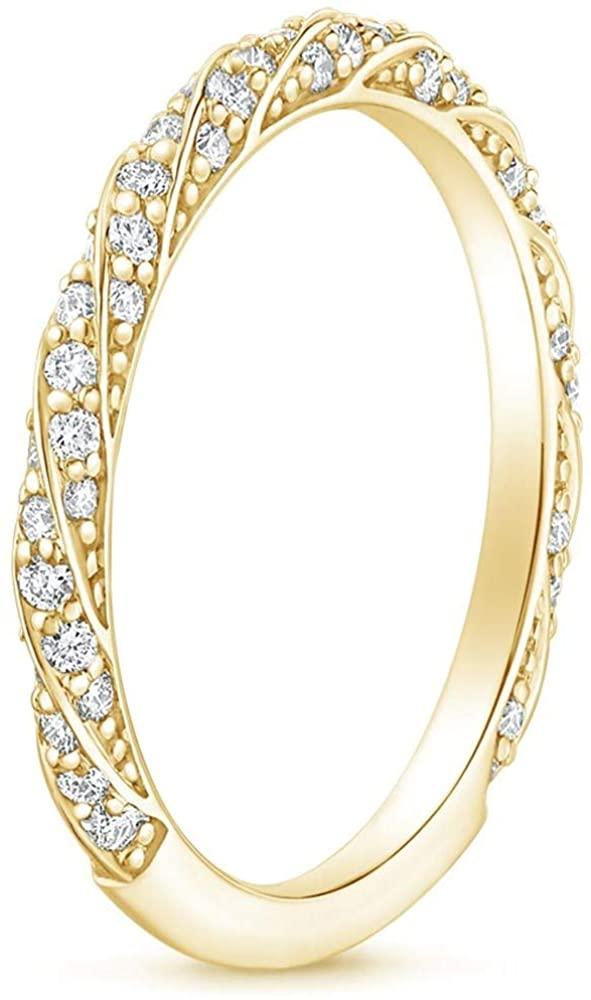 1 Carat (ctw) Moissanite Engagement Rings for Women 10K 14k 18K Gold Platinum Plated Silver