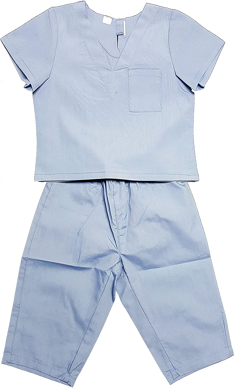 Cahoon's Closet Blue Children's Infant Toddler Medical Scrubs Costume - Size 6-12 mths