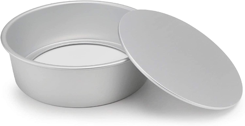 Round Cheesecake Pan, Beasea 10 Inch Removable Bottom Cake Pan Aluminum Alloy Cake Baking Pan for Oven Baking