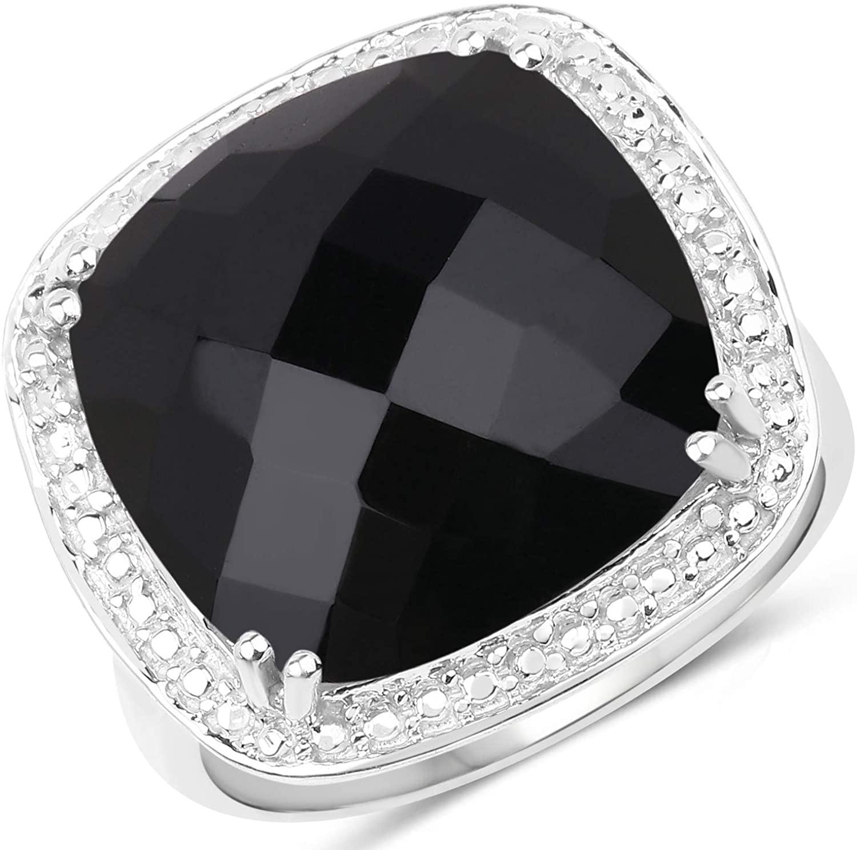 10.85 Carat Genuine Crystal Quartz .925 Sterling Silver Ring