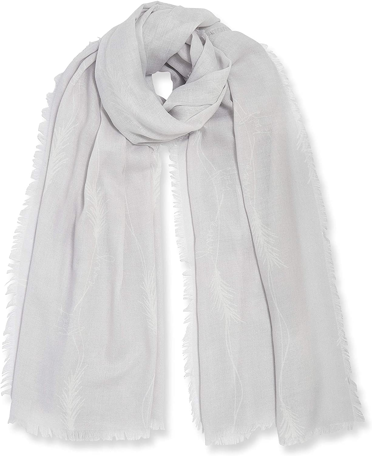 Katie Loxton Float Away Womens One Size Fits Most Fashion Sentiment Scarf in Pale Grey