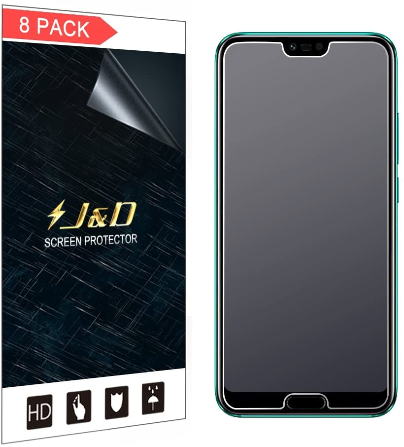 J&D Compatible for 8-Pack Huawei Honor 10 Screen Protector, [Anti-Glare] [Not Full Coverage] Matte Film Shield Screen Protector for Huawei Honor 10 Matte Screen Protector - [Not for Honor 10 Lite]