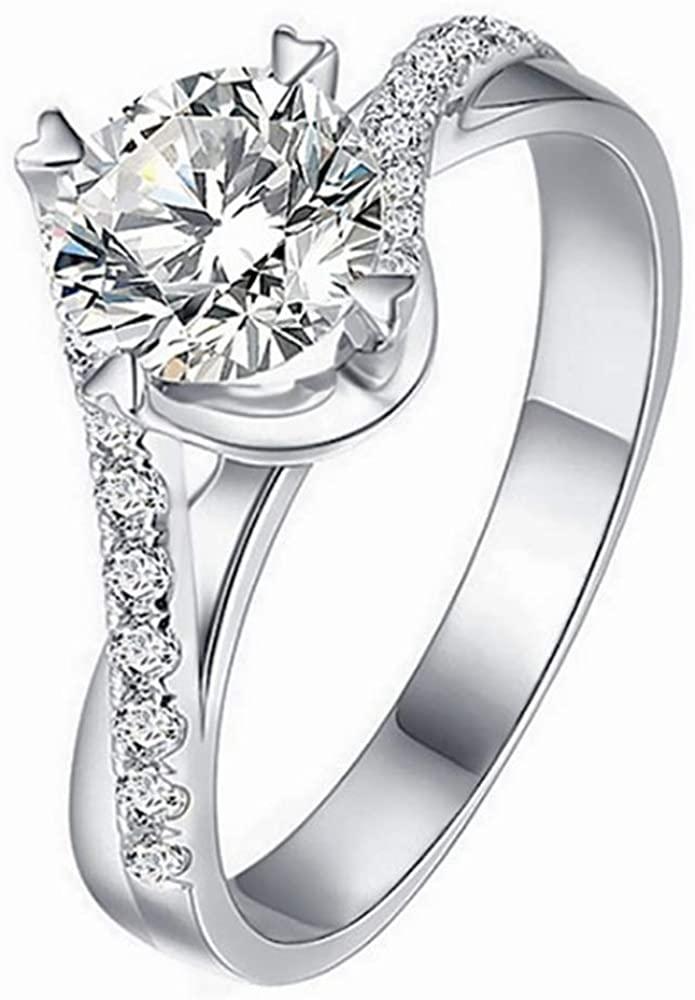 1-1/4 Carat (ctw) Moissanite Engagement Rings for Women 10K 14K 18K Gold Platinum Plated Silver Anniversary Rings