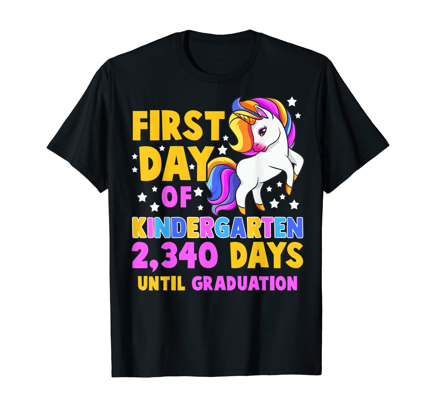 Back To School First Day Of Kindergarten Graduation Unicorn T-Shirt
