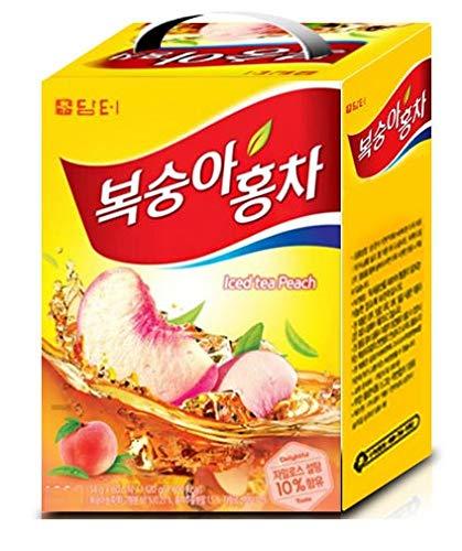 DAMTUH Peach Iced Black Tea, Iced Tea Mix Peach, Single Serve 80 Sticks