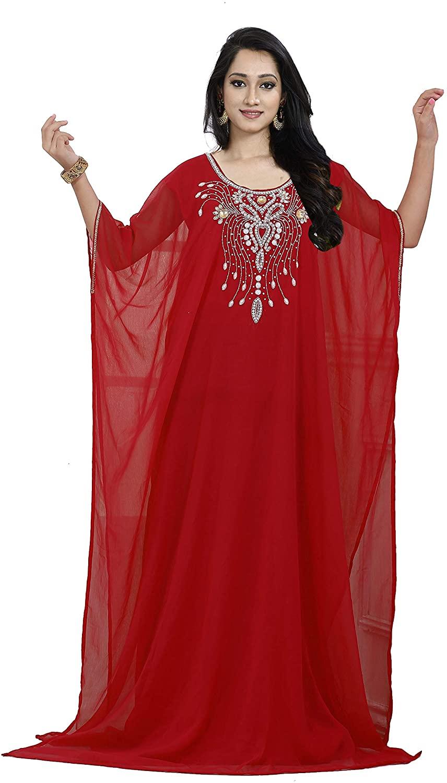 KoC Kaftan for Women Farasha Caftan Kimono Long Maxi Dress Summer Cover up Free Size