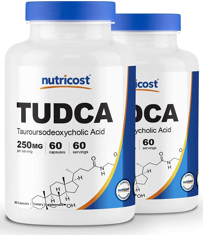Nutricost Tudca 250mg, 60 Capsules (2 Bottles)