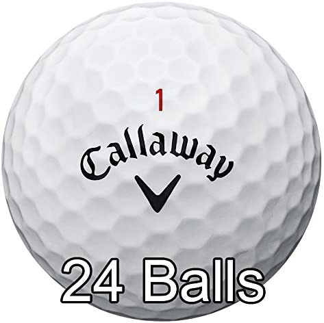 Callaway New 2017 Chrome Soft Golf Balls - Made in the USA (12 Pack) Choose your Color (Color - White (2 Dozens))