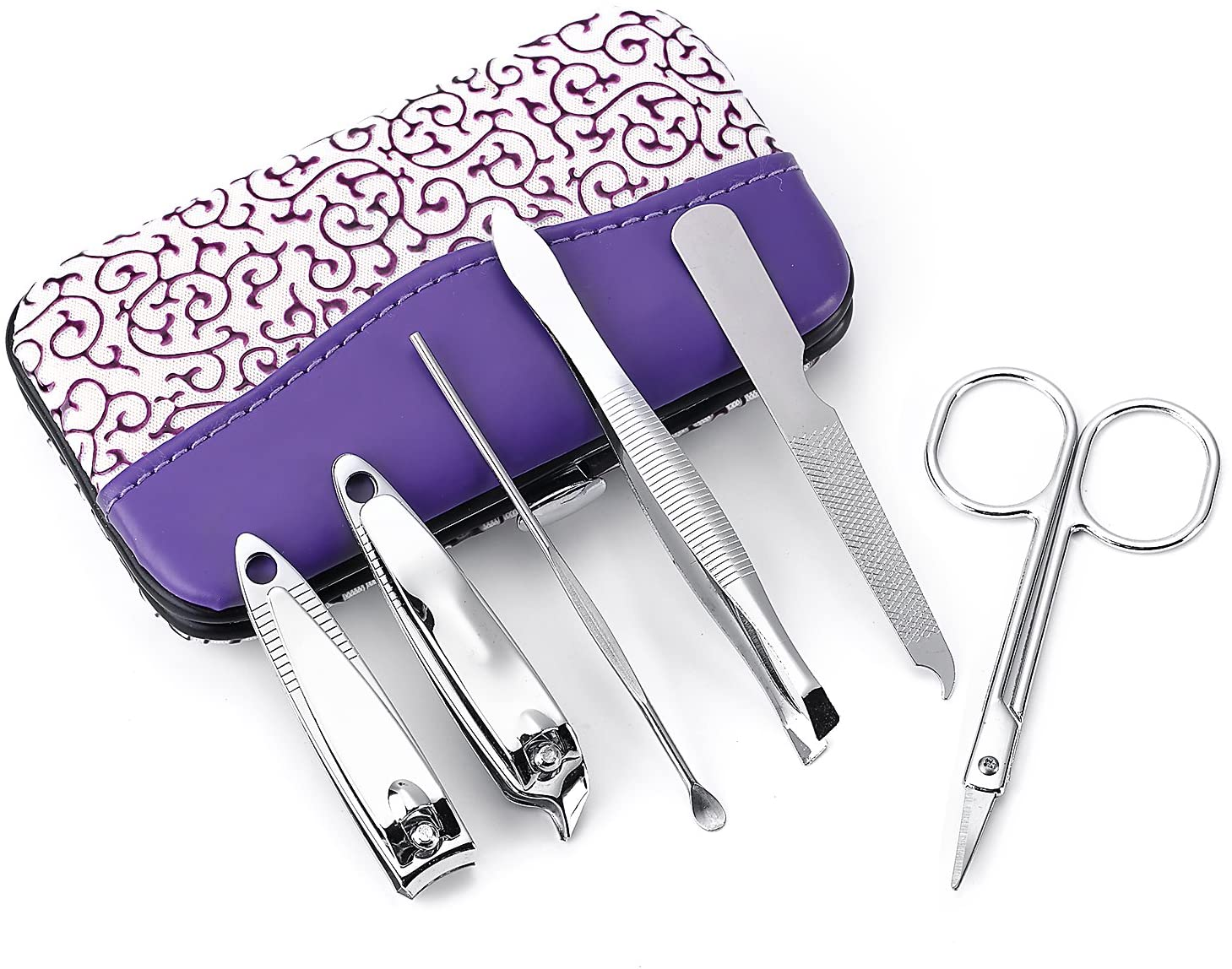 BelleSha Nail Kit, Manicure Pedicure Travel Grooming - 6 Piece