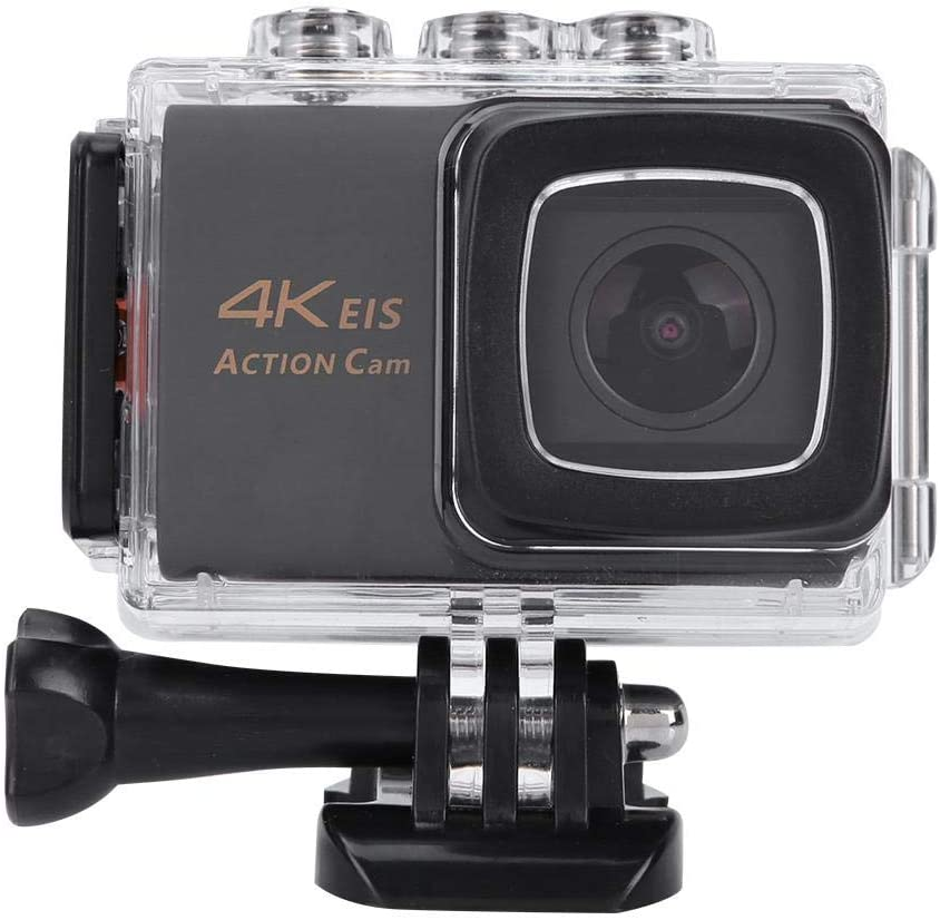 Action Camera,4K 30FPS 20MP Hd Screen WiFi Waterproof Action Camera,Wide Angle Lens,EIS Stablization Anti-Shake Function with Remote Control Support Slow Motion,Time Lapse