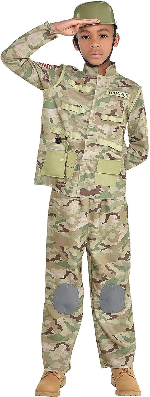 amscan Boys Combat Soldier Costume - Large (12-14), Muticolor
