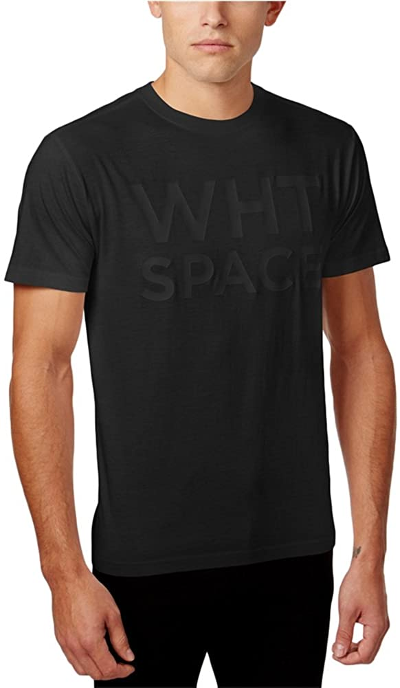 WHT SPACE Mens Solid Short Sleeve Graphic T-Shirt