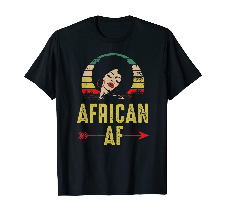 African AF Vintage Retro Black African Women Gift T-Shirt