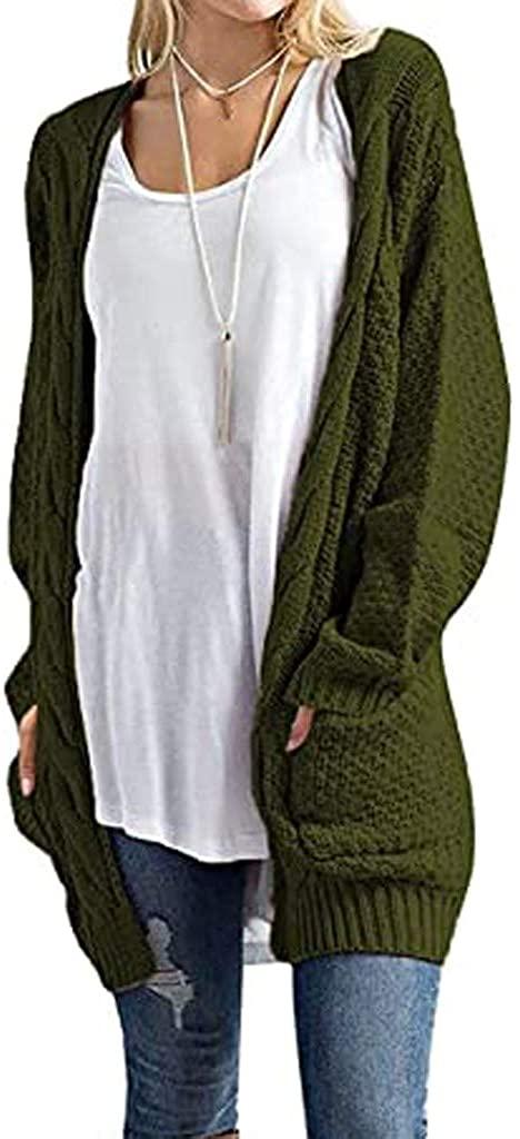 SERYU Fashion Women Long Sleeve Knit Winter Cardigan Sweater Solid Color Coat