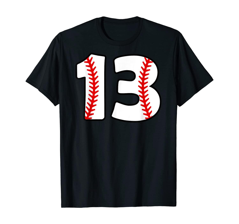 Thirteenth Birthday 13th BASEBALL Shirt No. 13 Born in 2006