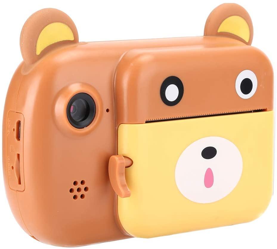 Qioni Camera, DIY Graffiti Auto Mini Camera, for Kids Children,(Blue)