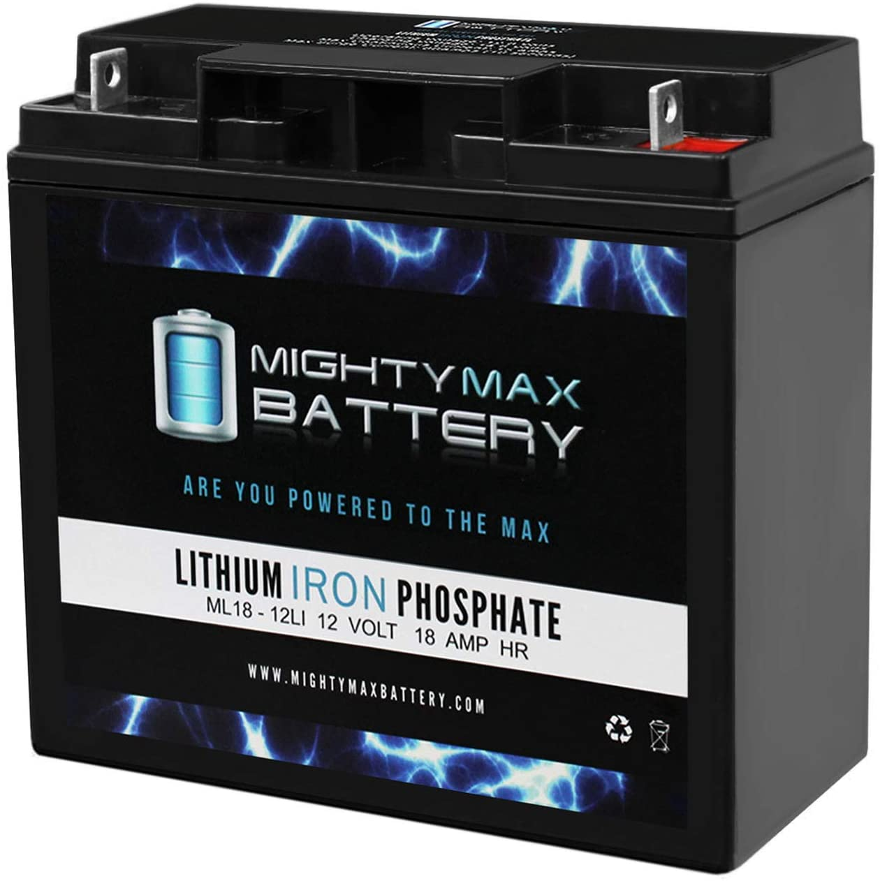 Mighty Max Battery 12V 18AH Lithium Replacement Battery for Alpha EBP417-24CRM Brand Product