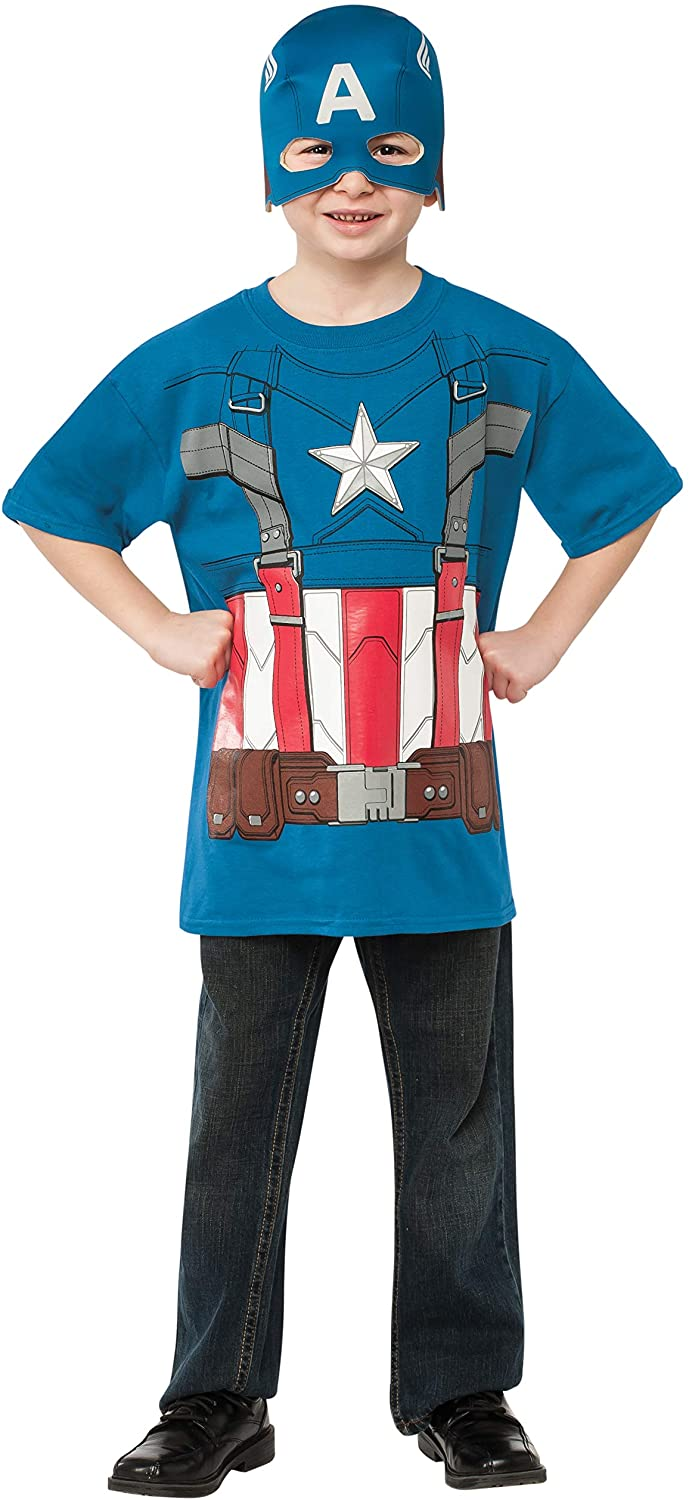 Rubies Captain America: The Winter Soldier Retro Style Costume Top and Mask, Child Medium