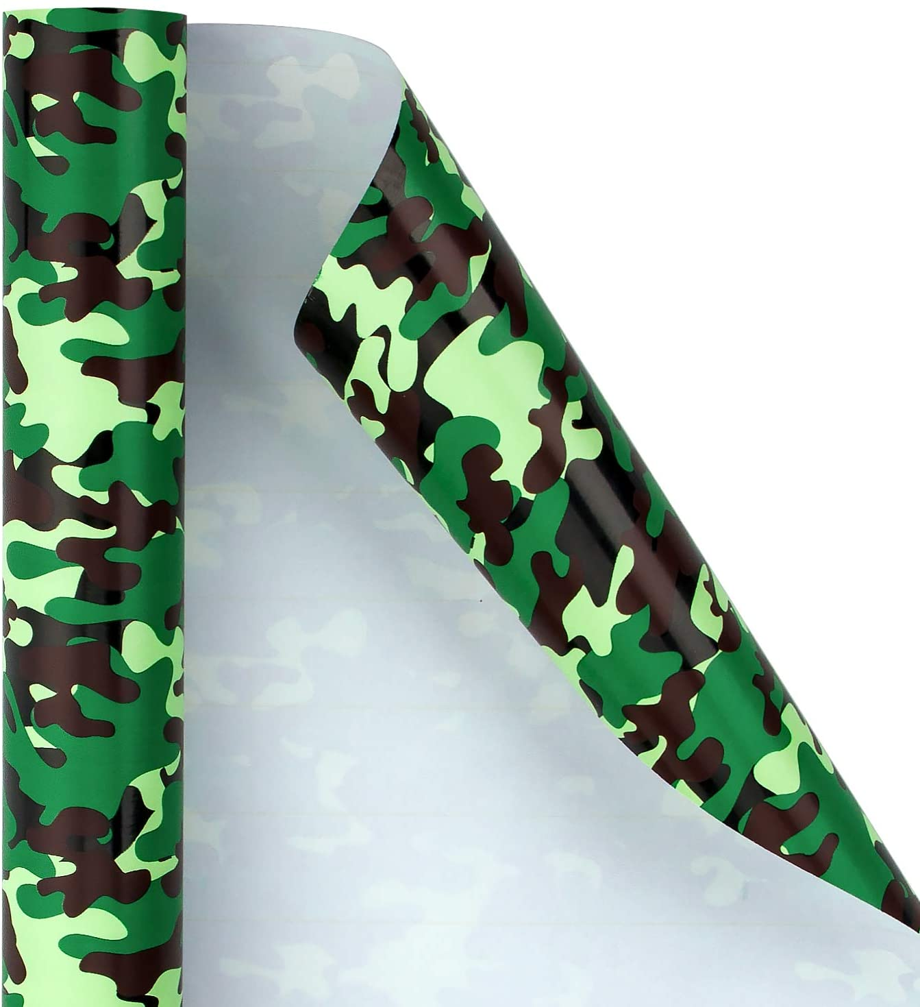RUSPEPA Wrapping Paper Roll - Camouflage - Green Design Great for Wedding, Birthday, Baby Shower, Parties, Mother's Day, and Holiday - 30 inches x 32.8 feet Per Roll
