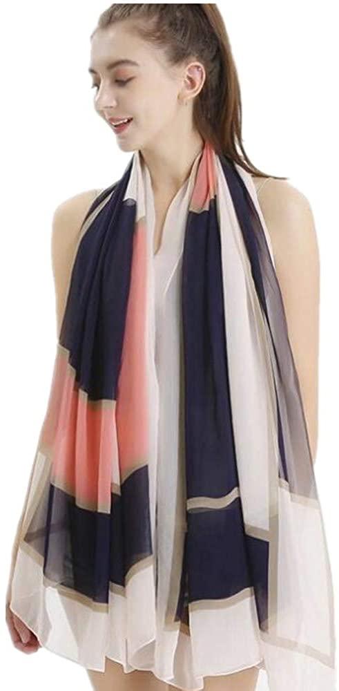 JL Silk Scarf Mulberry Silk Fashion Scarves Long Lightweight Shawl Wrap