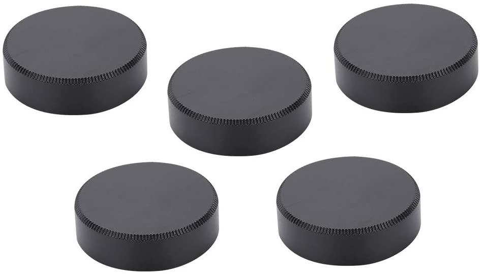 Rear Lens Cap, 5PCS Rear Lens Cover 25mm Rear Lens Cover Cap Made of Alloy Suitable for C Screw Mount Lenses(Black)