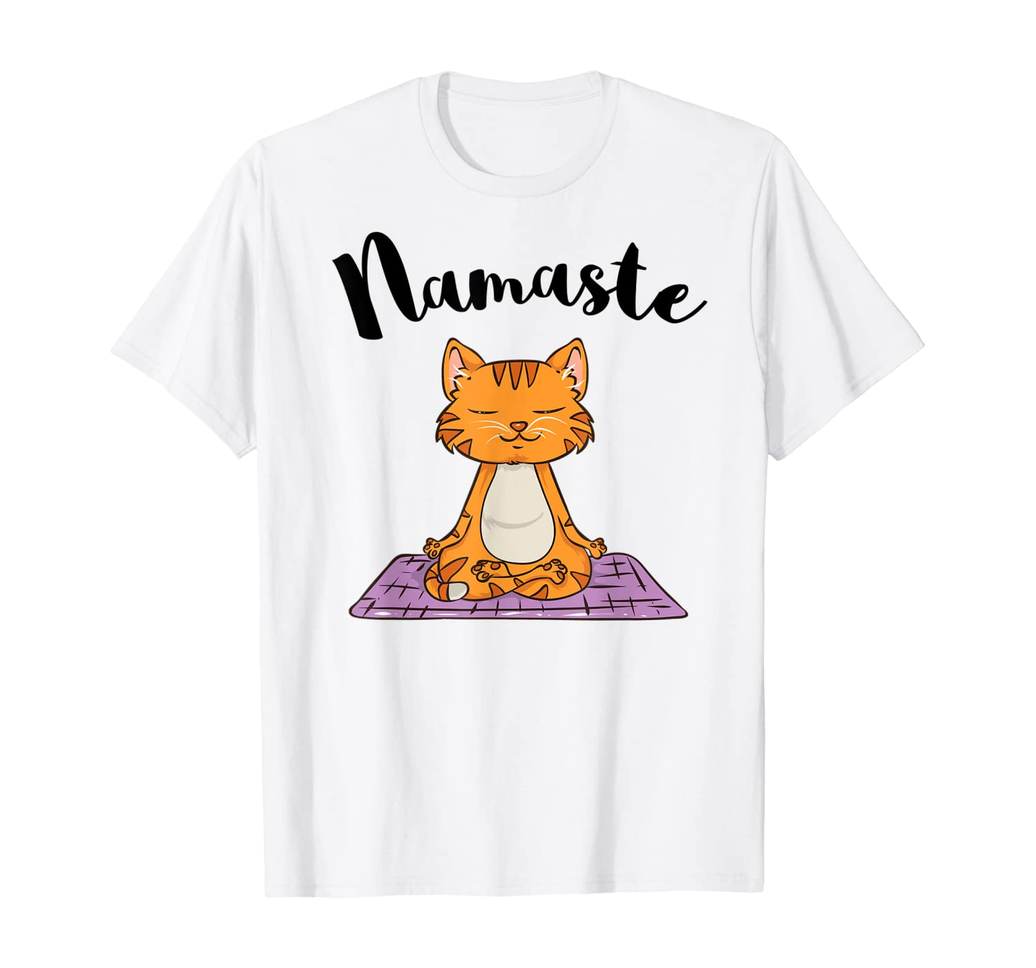 Cat Yoga Namaste Shirt Funny Yoga Gifts for Women Kitten T-Shirt
