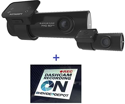 HDVD BlackVue DR750S-2CH 32GB, Car Black Box Recorder, Built-in Wi-Fi, Cloud, 1080p Full HD, 60FPS, G Sensor, GPS, 32GB SD Card Warning Sign Included