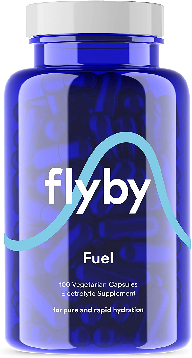 Flyby Electrolyte Replacement Tablets - Pills & Capsules for Rapid Rehydration, Recovery, Keto & Cramps - Salts, Magnesium, Potassium, Sodium - Paleo, Keto & Vegan Friendly - 100 Capsules