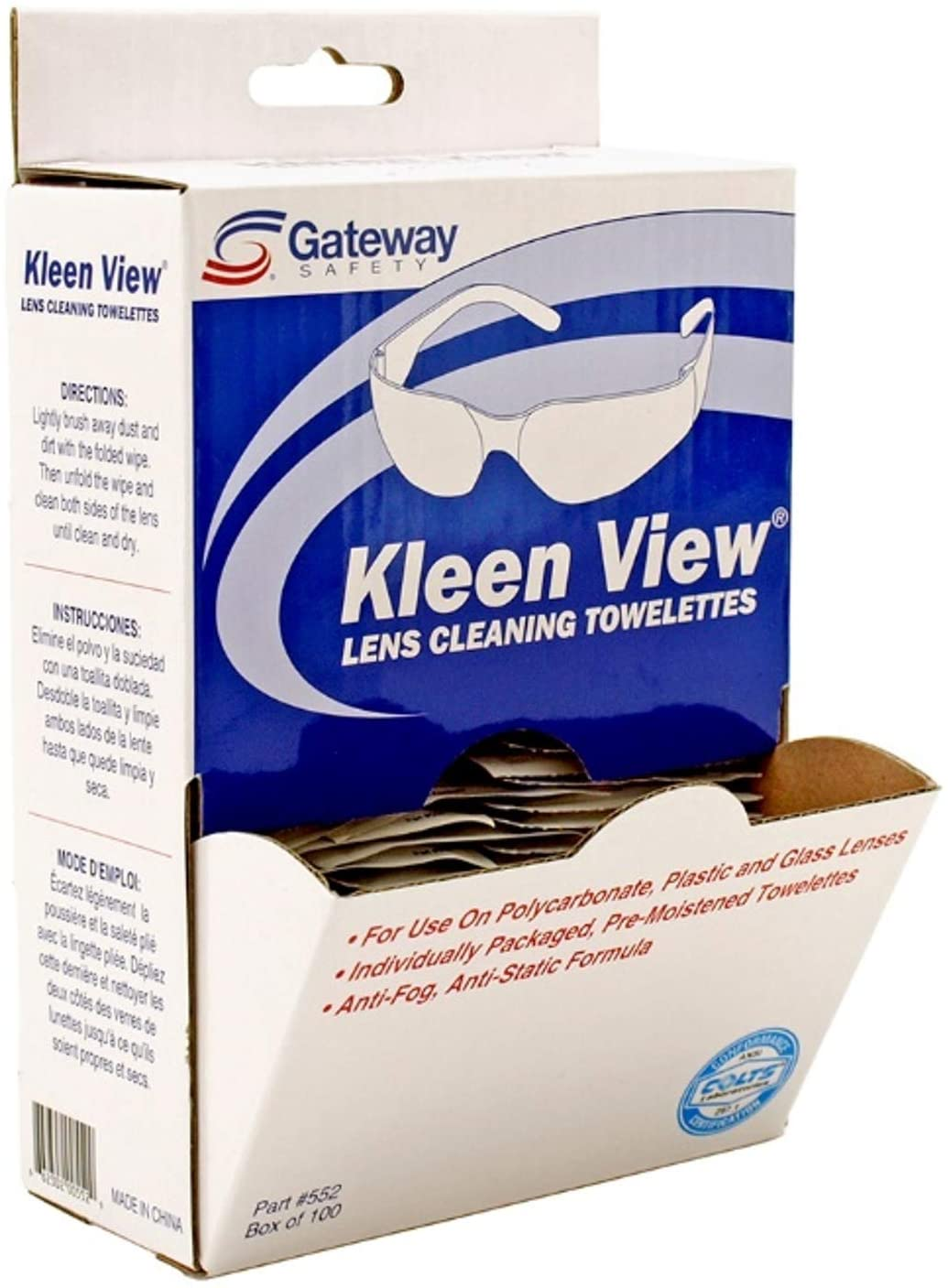Kleen View Lens Cleaning Towelettes 100-pc