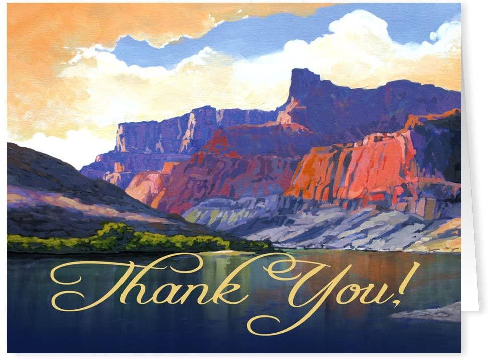 Beautiful Canyon Walls Thank You Note Card - 10 Boxed Cards & Envelopes