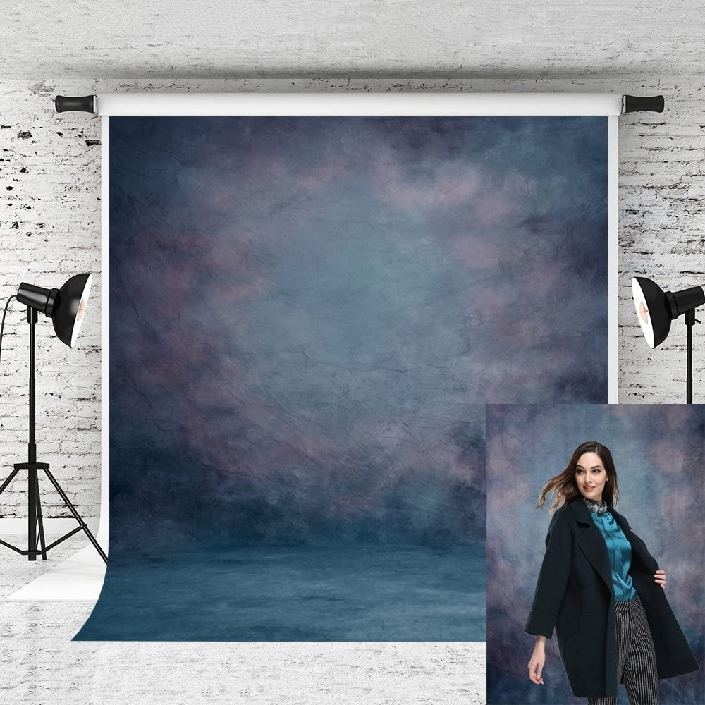 Kate 8X8ft Blue Backdrop Blue Retro Photographer Photo Background for Portraits Studio Props