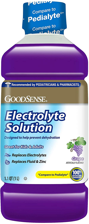 GoodSense Pedia Electrolyte Liquid, Grape, 33.8 Fluid Ounce