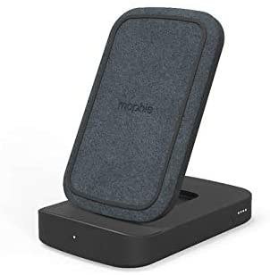 mophie - powerstation Wireless Stand - Wireless Portable Charger containing an 8,000mAh Battery, Convertible Stand, and 18W USB-C PD Fast Charge - Black
