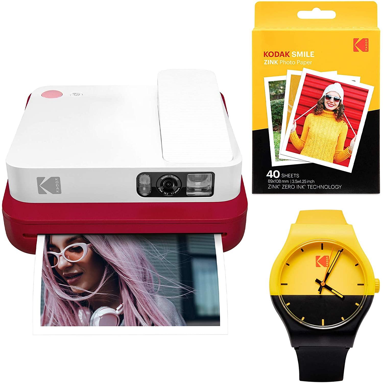 KODAK Smile Classic Digital Instant Camera with Bluetooth (Red) Watch Bundle