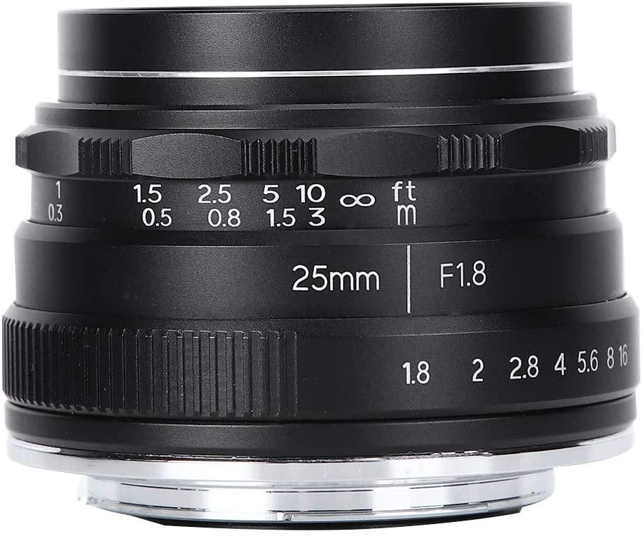 Bindpo Camera Lens, 25MM F1.8 Z Mount Large Aperture Portrait Lens APS-C 57.4 Degree Wide Angle Lens Scenery Lens for Nikon Z7/Z6/Z5/Z50