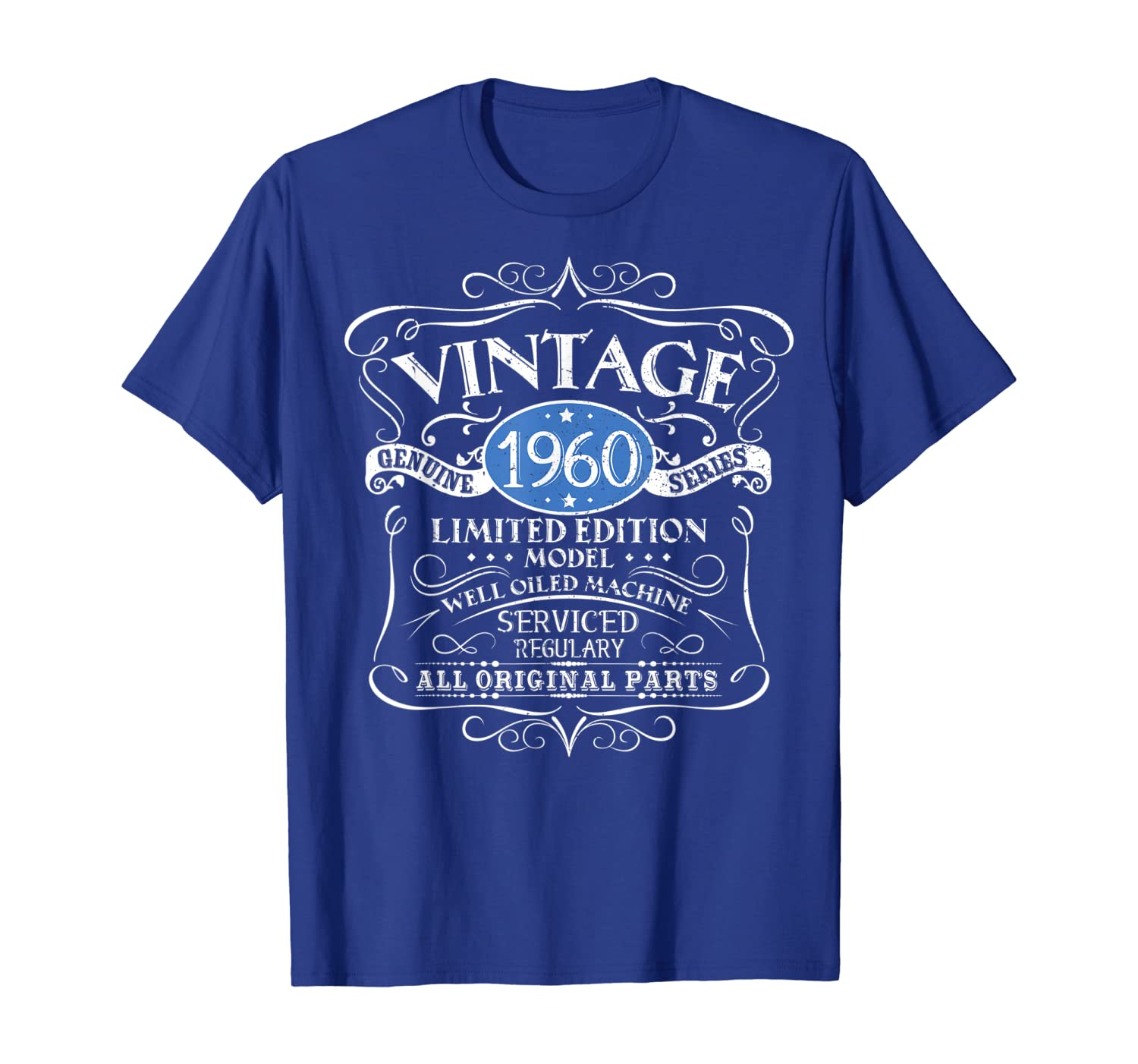 Vintage 1960 60th Birthday All Original Parts Gift T-Shirt