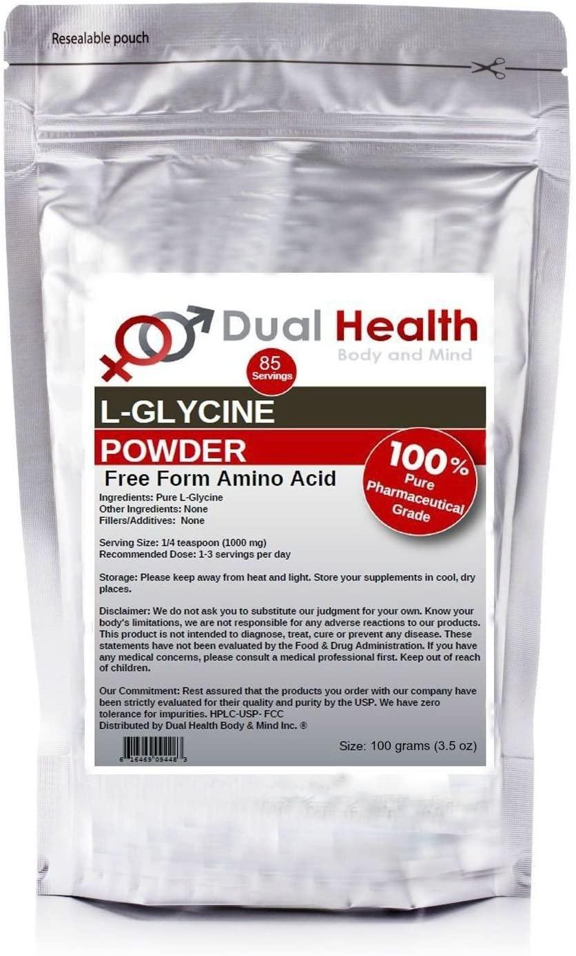 Pure Glycine Powder (100 Grams /3.5 oz) Bulk Supplements